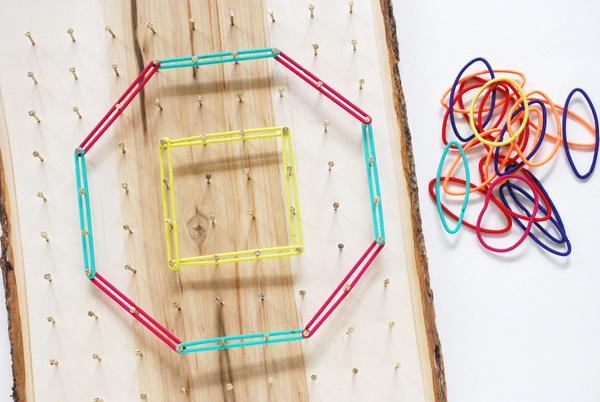 DIY Geoboard for Math Play