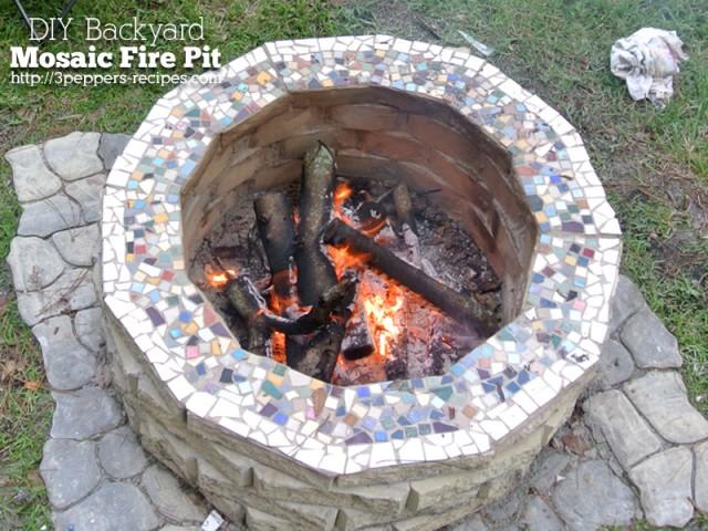 DIY Backyard Mosiac Firepit