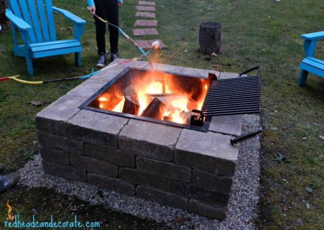 Easy DIY Fire Pit with Grill