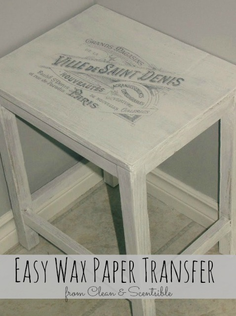 Easy Wax Paper Transfer