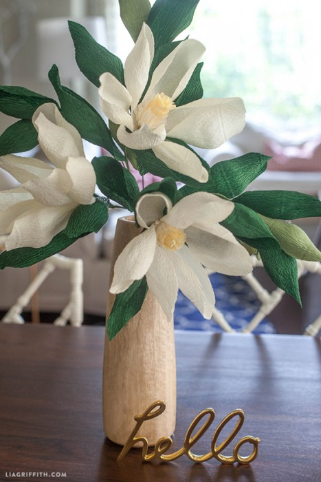 DIY Paper Magnolia Flower