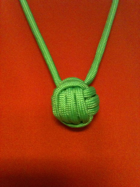 Paracord Monkey Fist Necklace Instructables
