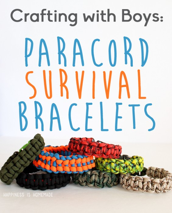 Paracord-Survival-Bracelets from HappinessIsHomemade