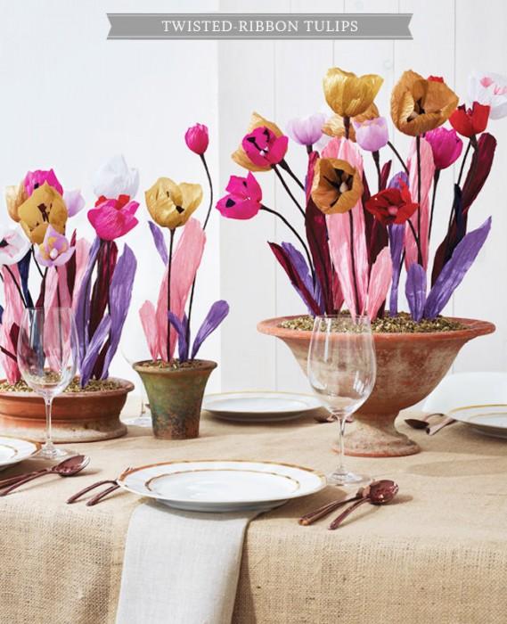 Twisted Ribbon Tulips