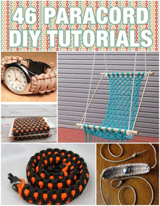 46 Paracord Project DIY Tutorials