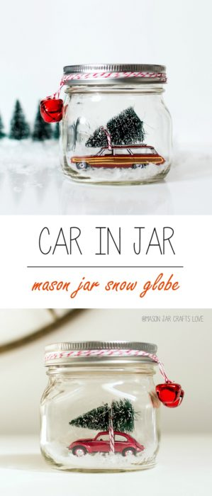 Car in a Jar Snow Globe