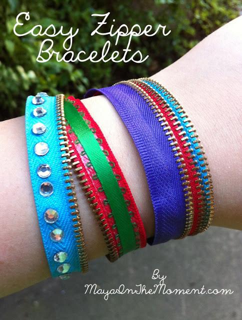 Easy Zipper Bracelets