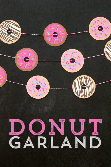 How to Create an Adorable Donut Garland