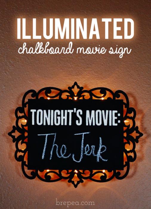 Illuminated Chalkboard Movie Sign