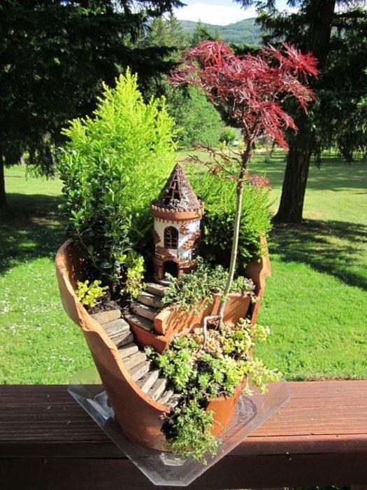 Fairy House Garden in a Pot