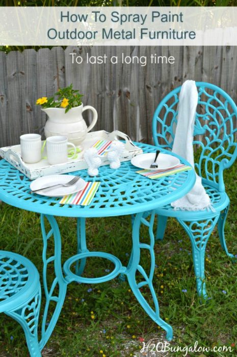 How to Spray Paint Metal Outdoor Furniture