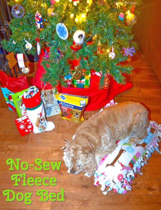No Sew Fleece Dog Bed