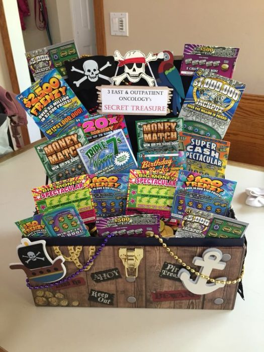 Lotto Ticket Gift Basket