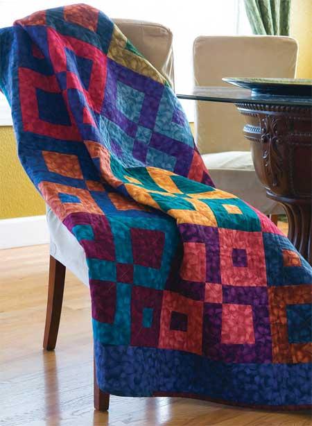 Square Dancing Lap Quilt Pattern