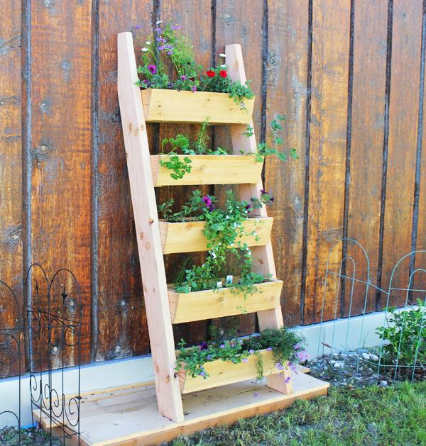 Build Your Own Ladder Garden Planter