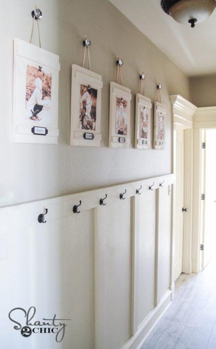 DIY Hanging Frames with Labels