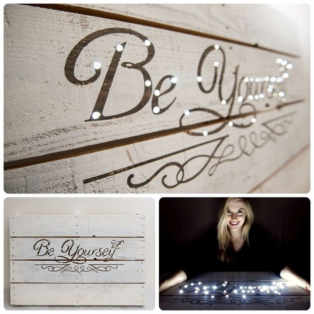 Letter Wall Decor with LED Lights