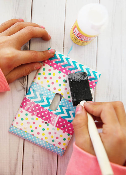Washi Tape Light Switch Cover