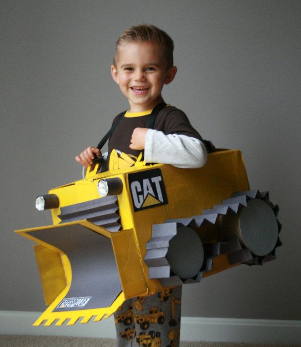 DIY Bulldozer Costume
