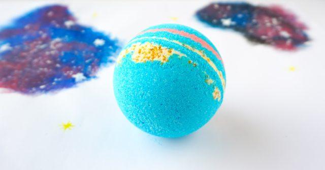 DIY Galaxy Bath Bombs