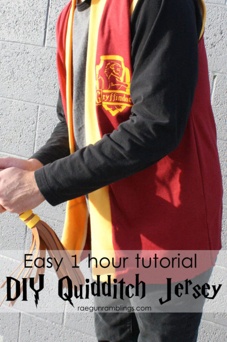 Easy 1 Hour Harry Potter Quidditch Jersey Tutorial
