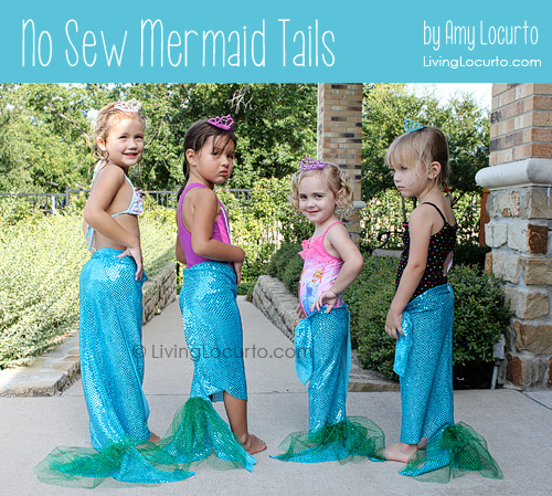How to Make a No Sew Mermaid Tail