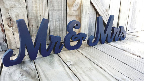 Mr and Mrs Sign freestanding