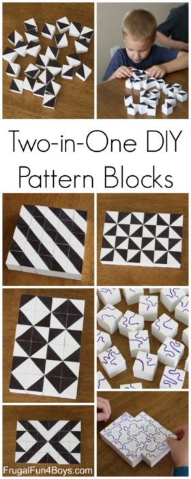 Two in One DIY Pattern Blocks
