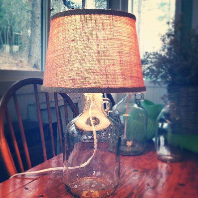 DIY Bottle Lamp Inspired by Pottery Barn