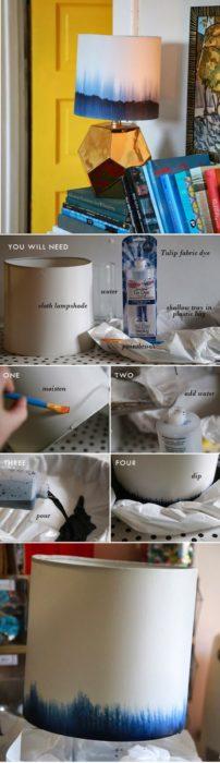 DIY Dip Dye Lampshade