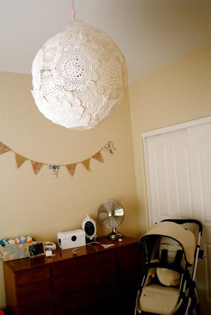 DIY Doily Lamp