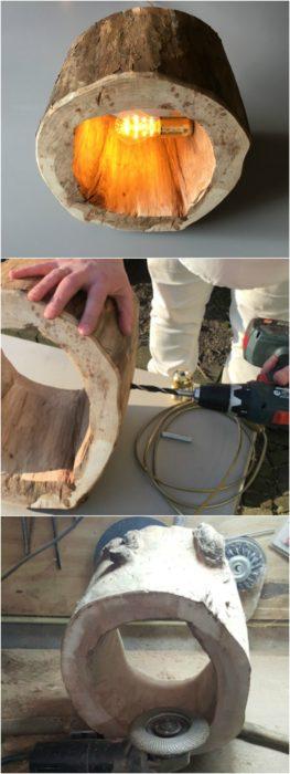 Make a Spectacular Stump Floor Lamp