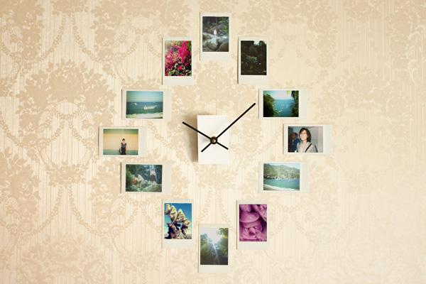 diy-clock-with-framed-photos