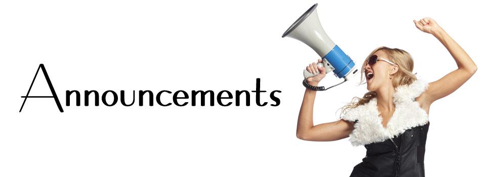 Slide # 4 - Announcements