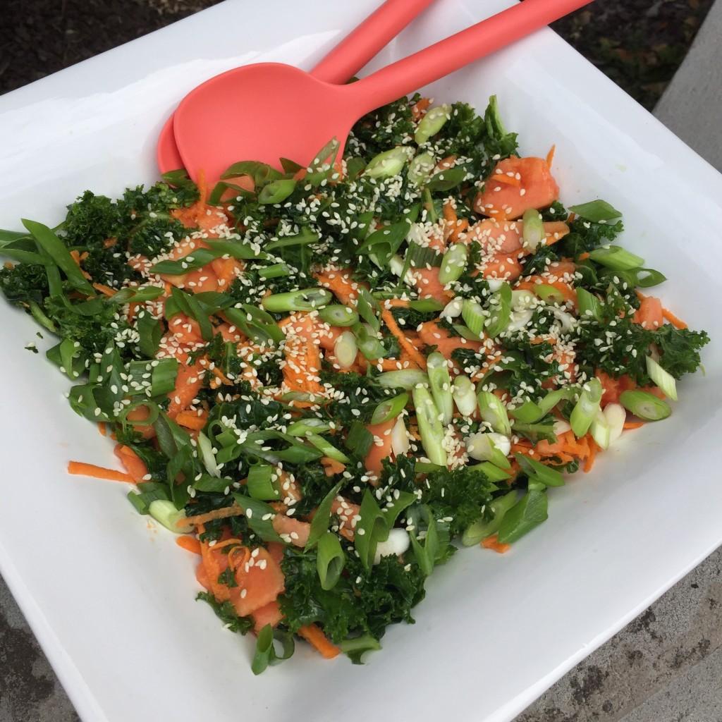 Kale & Papaya Salad