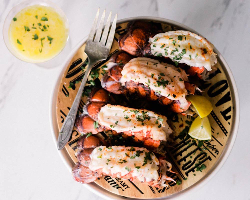Lemon Garlic Lobster Tails