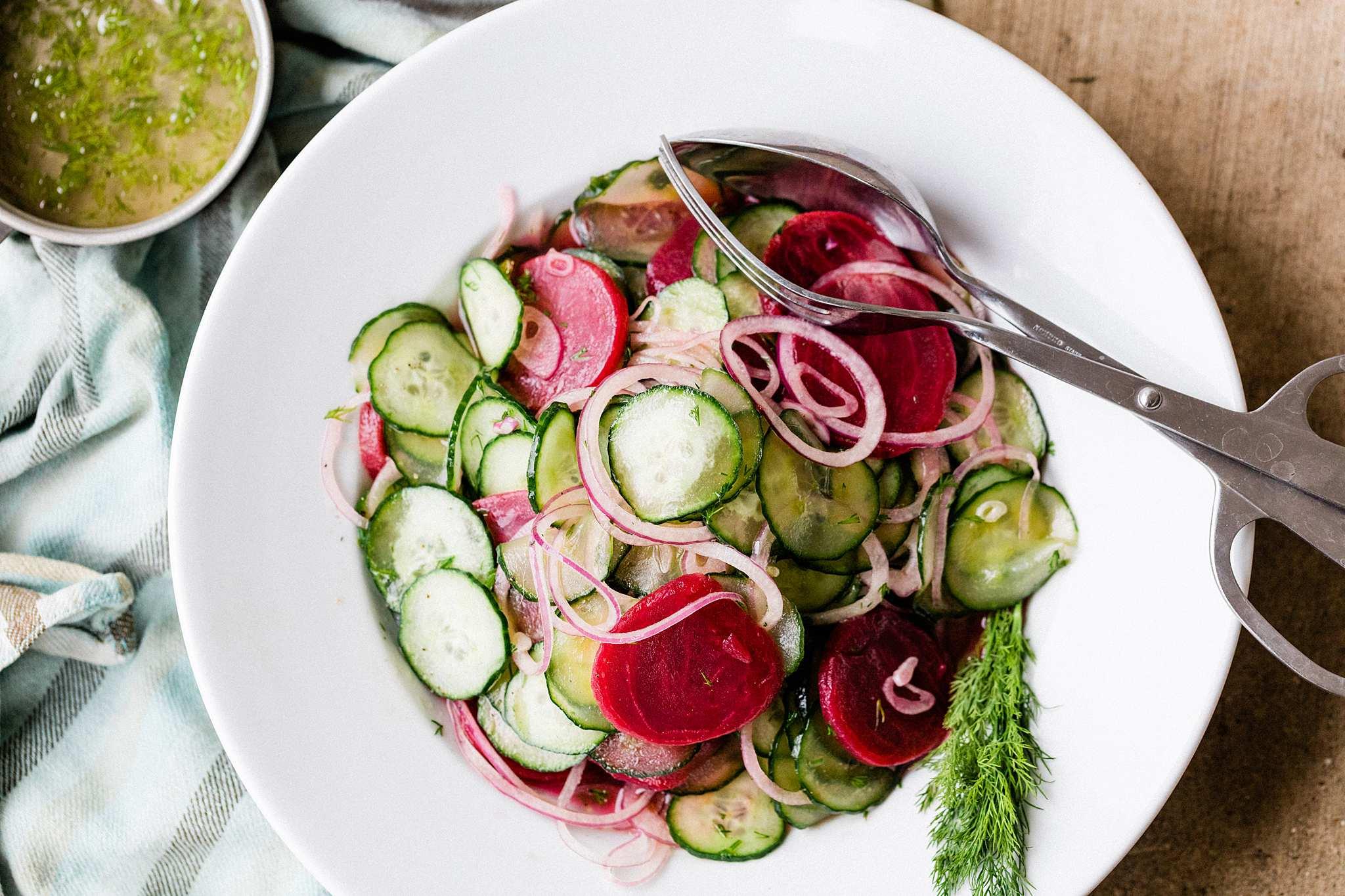 Beet & Cucumber Salad - Let's Taco Bout it Blog