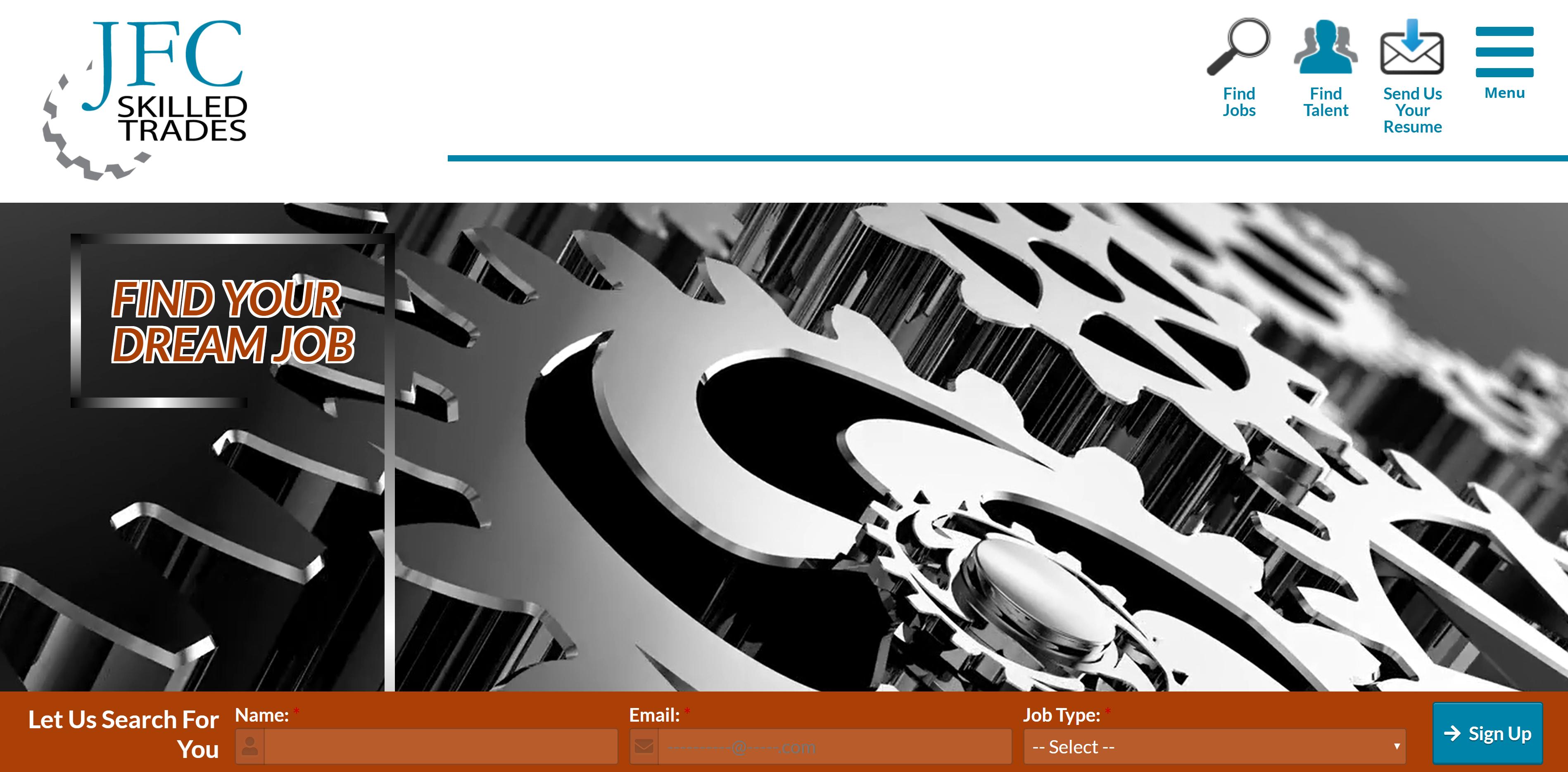 Skilled Trades Website Design by Valor Creative media