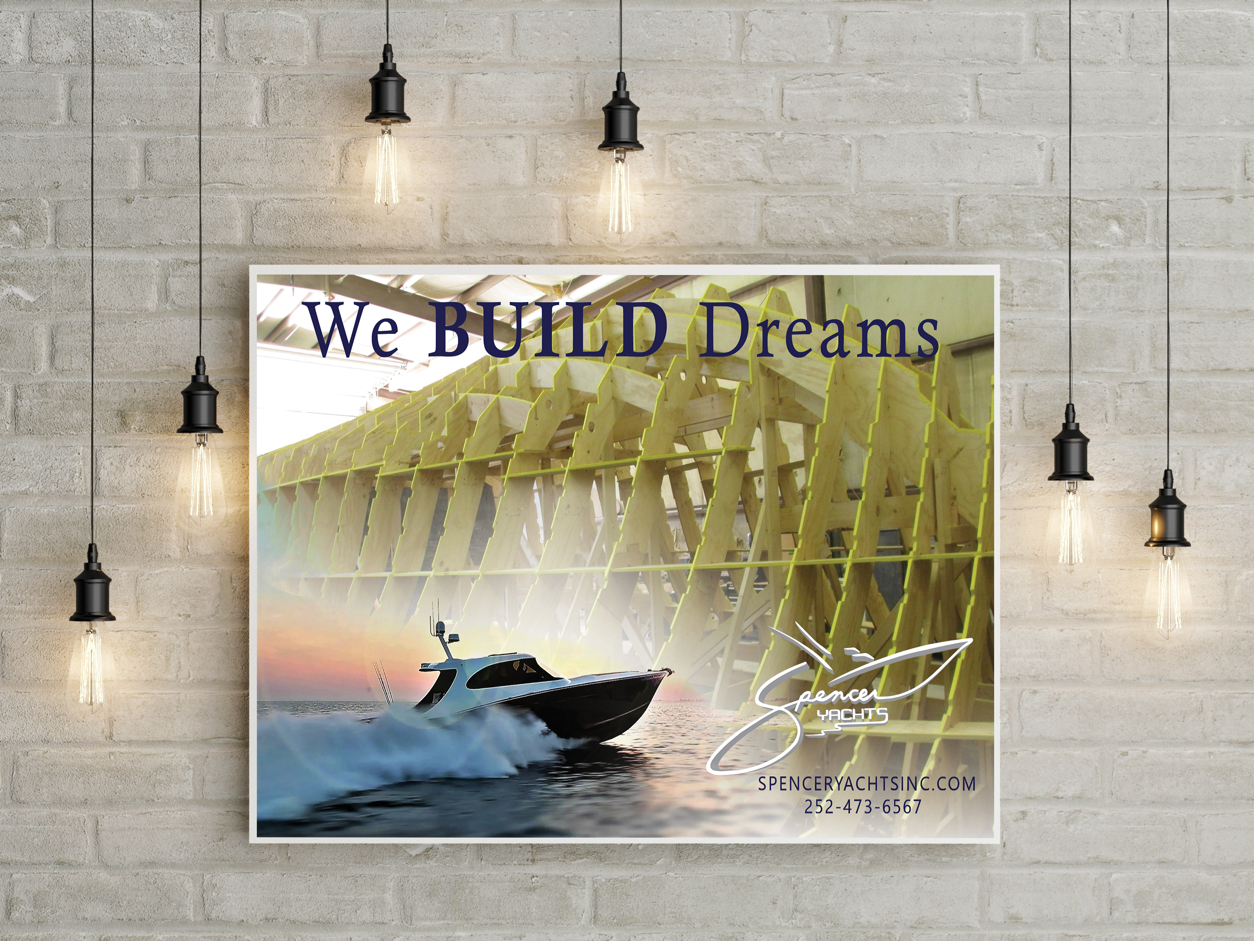 Dare County Boat Builders Print Advertising Campaign for Spencer Yachts