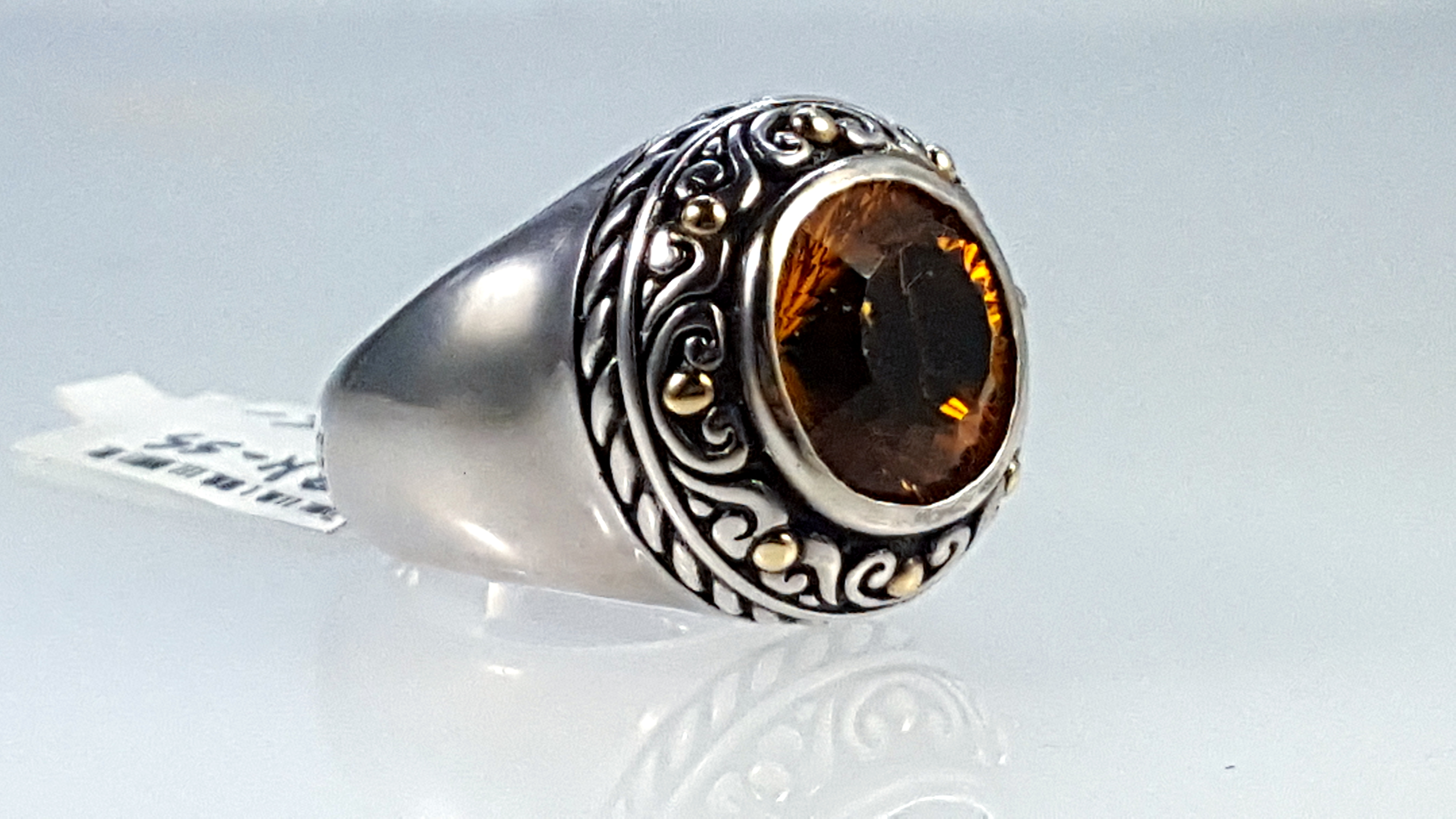 Sterling silver ring w Citrine