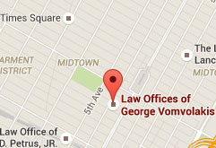 NYC Criminal Defense Attorney George Vomvolakis Office Location