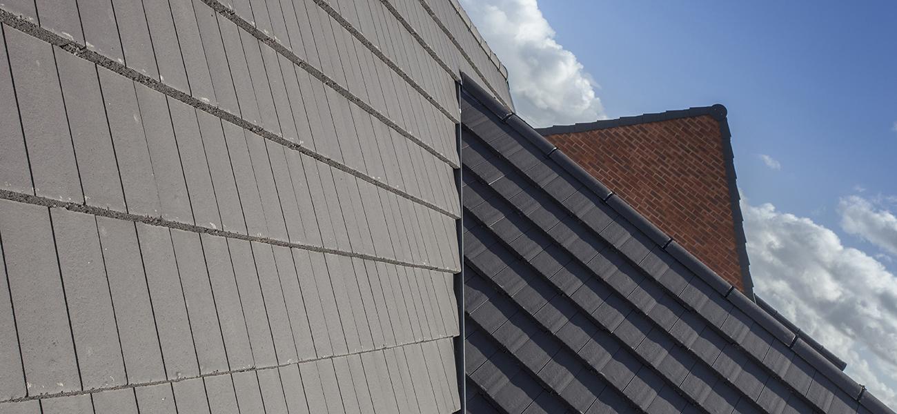 grey modern tiles roof