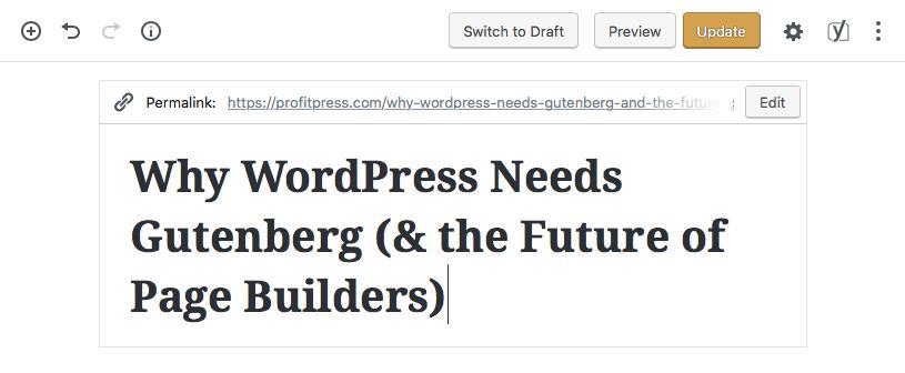 WordPress Gutenberg Demo