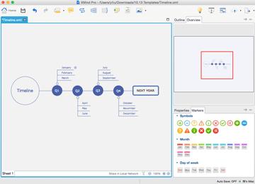XMind 7 user interface