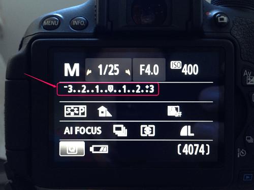 using the exposure meter