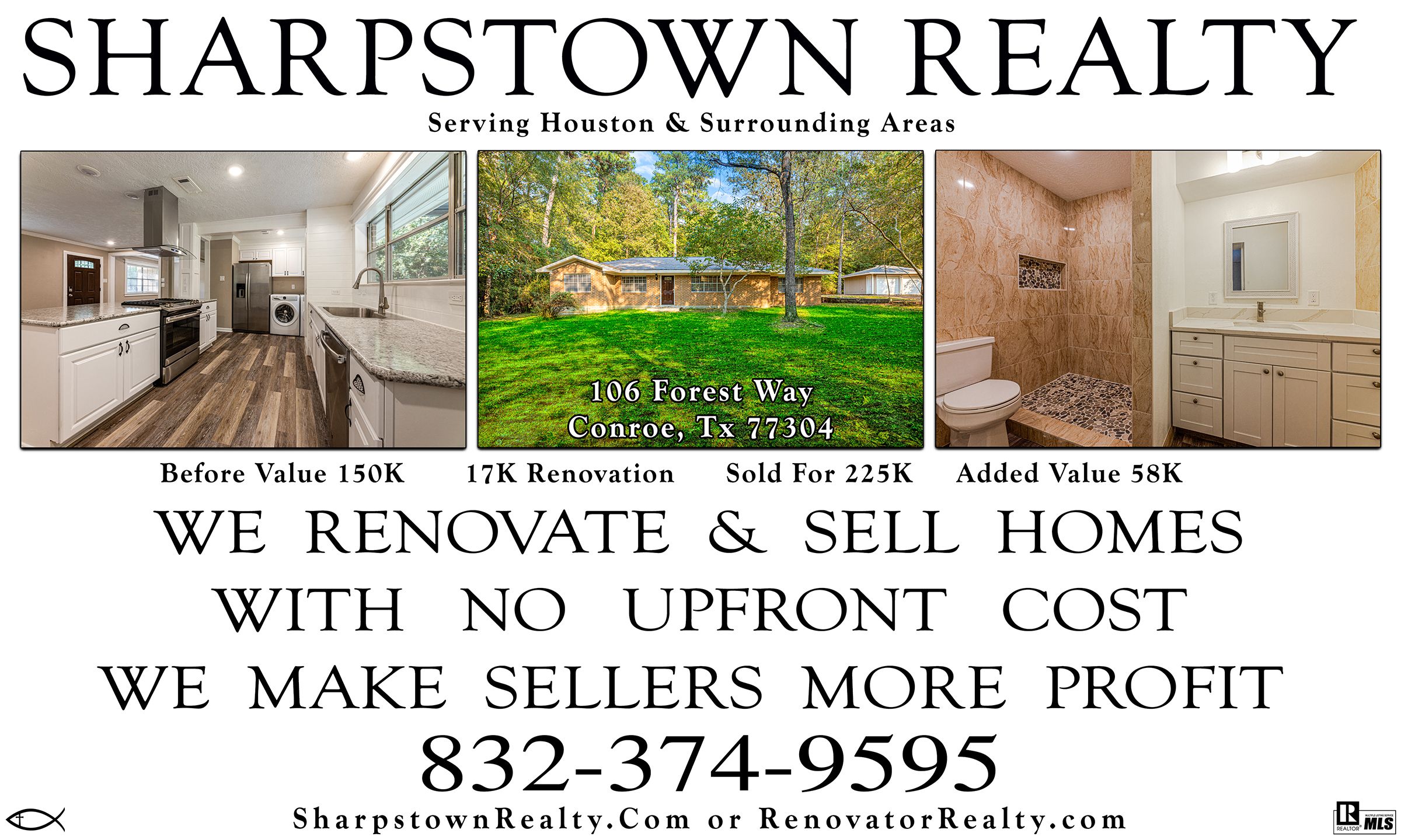 Banner image for sharpstown Realty website