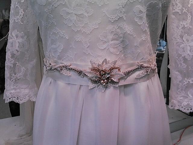 Wedding Accessories - Vintage Pearl & Rhinestone Belt by JenMar Creations
