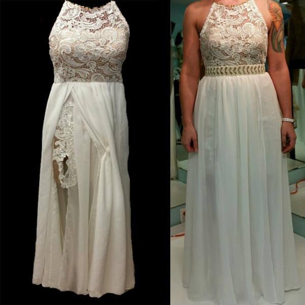 Custom Halter wedding dress by JenMar Creations