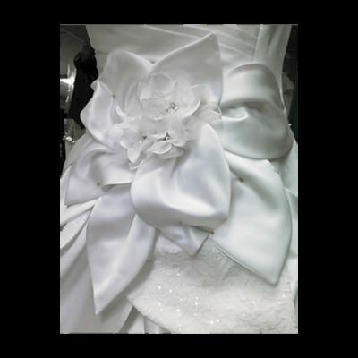 Custom Wedding dress satin flower