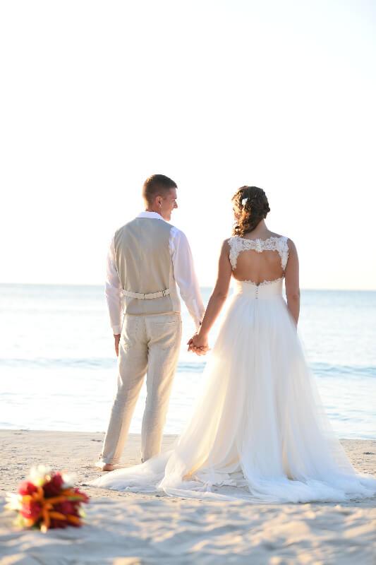 Peekaboo Back Wedding Dress   JenMar Creations